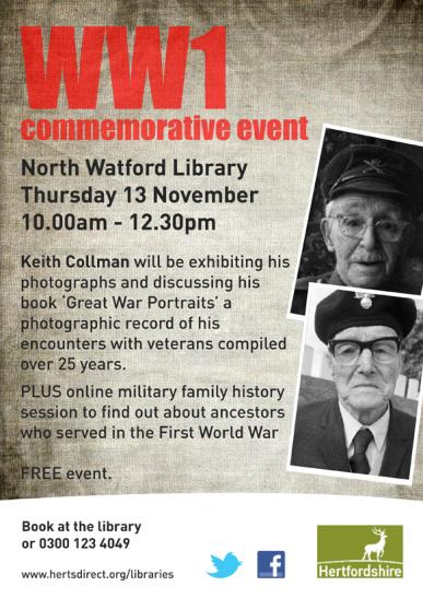WW1 Commemorative Event - Talk & Exhibtion